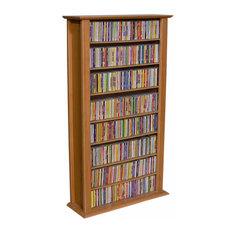 venture horizons store media storage tower regular single cherry media racks and - Cd Storage Cabinet