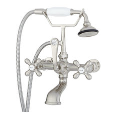 Classic Telephone Bathroom Wall Mounted Faucet, Brushed Nickel