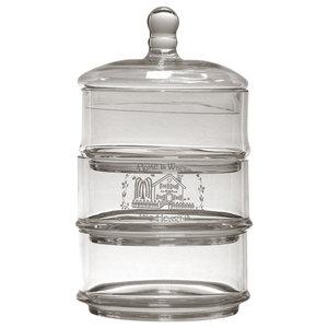 Triple Glass Kitchen Jar, Slim