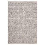 Sams International - Abacasa Everest Chione Gray and Ivory Area Rug, 5'x8' - Hand crafted in India from soft and durable wool, the Everest area rugs feature a durable non slip cotton backing. The perfect addition to add a pop of texture and warmth to any space. The neutral colors will blend well with virtually any decor while creating a stylish foundation for your space.