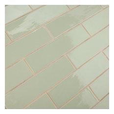 """Gloucester Ceramic Wall Tiles, 3""""x12"""", Sage"""
