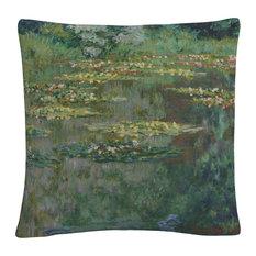 """Monet 'Le Bassin Des Nympheas' 16""""x16"""" Decorative Throw Pillow"""
