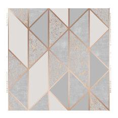 Superfresco Easy Rose Gold Milan Geometric Wallpaper, Roll