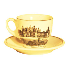 Chateaux Cup and Saucer, Set of 2