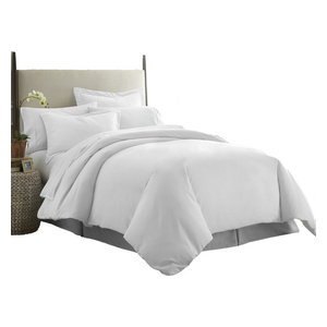 Home Collection Ultra-Soft Luxury Duvet Set, Full/Queen, White