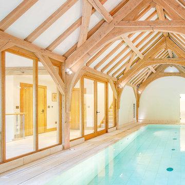 Oak frame swimming pools