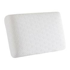 Gel Memory Foam Standard Pillow, White