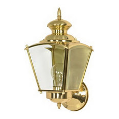 Brass Outdoor Light Fixtures Shop top rated traditional brass outdoor wall lights and sconces houzz satco products polished brass and clear beveled glass exterior wall light fixture outdoor wall workwithnaturefo