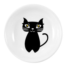 Omniware Cat Noir Round Stoneware Tea Caddy and Infuser Holder
