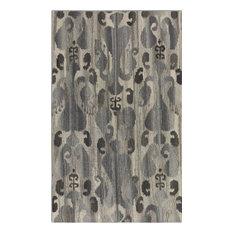 Uttermost Sepino Light Gray With Darker Gray Ikat Designs 5 X 8 Rug