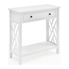 Coventry 32-inch Wood Console Table With Drawer And Shelf