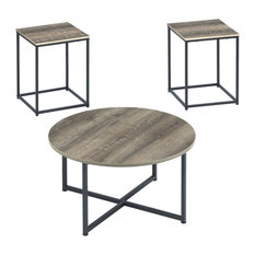 Wadeworth Table Set, Coffee Table and 2 End Tables, Two-tone