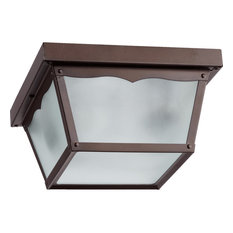 "9"" Outdoor Cage Ceiling Mount, Oiled Bronze"
