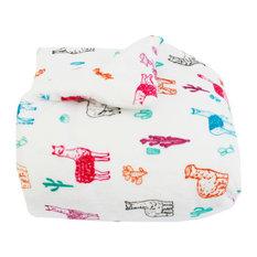 THRO - Larry Llama Flannel Fleece Comforter Set, Twin - Kids Bedding