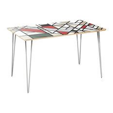 Brixton Hairpin Dining Table - Organic Modernism