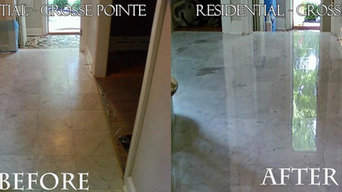 Marble floor and shower restoration