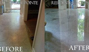 Marble floor and shower restoration