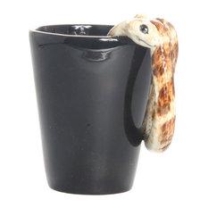 Snake 3D Ceramic Mug, Brown