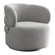 Pasargad Home Noho Collection Bleeker Accent Chair, Silver