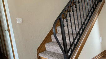 Traditional Wrought Iron Stair Railing