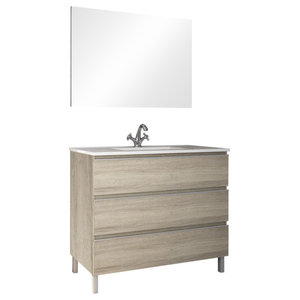 Avant 3-Drawer Freestanding Bathroom Vanity Unit, 80 cm