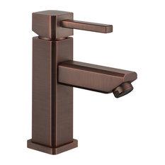 Legion Furniture Single Hole Single-Handle Bathroom Faucet, Brown Bronze