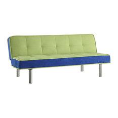 Acme Hailey Adjustable Sofa, Green and Blue