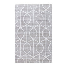Jaipur Living Seattle Handmade Trellis Gray/White Area Rug, 10'x15'