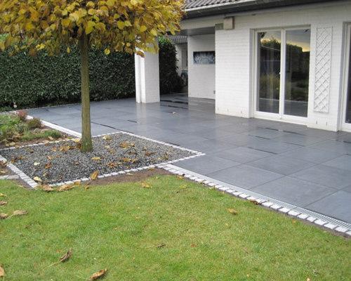 terrasse aus dunklen granitplatten. Black Bedroom Furniture Sets. Home Design Ideas