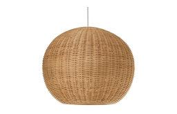 Wicker Ball Pendant Light, Natural