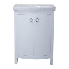 """Elegant Furniture & Lighting - 2 Doors Cabinet 24"""" X 18"""" X 34"""" , White - Bathroom Vanities and Sink Consoles"""