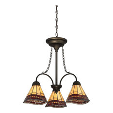 Quoizel Lighting Tiffany Style 3-Light Bronze Chandelier TFX3171C
