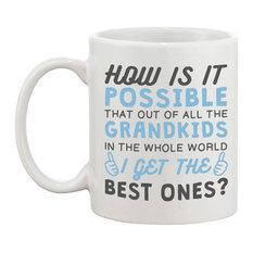 """Best Grandkid In The Whole World"" Ceramic Mug"