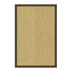 Natural Area Rugs, Rectangle (12'x18'), Montes, Seagrass Brown,Handmade