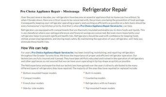 Appliance Repair Mississauga - Pro Choice Appliance Repair (289) 327-0619