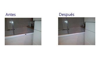 Reparación de golpe en  bañera