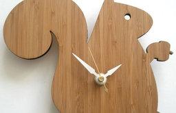 Decoylab Baby Squirrel Modern Animal Clock