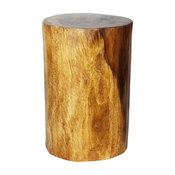 Haussmann Wood Stump Stool, Walnut Oil
