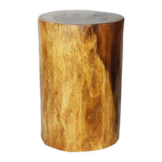Haussmann? Wood Stump Stool Or Stand 11-14 In DIA X 18 In H Walnut Oil