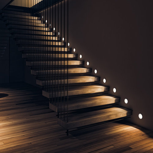 Contemporary staircase idea in Moscow
