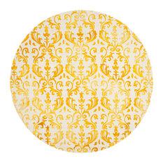Oscar Hand Tufted Rug, Ivory/Gold, 7'x7' Round