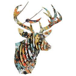 Trend Contemporary Wall Accents Bucky Jr Deer Cardboard Trophy Drip