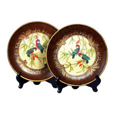 Pair of 10 Inch Diameter Parrot Decorative Plates