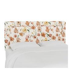 Ana Full Upholsterd Border Headboard Ginny Floral Harvest
