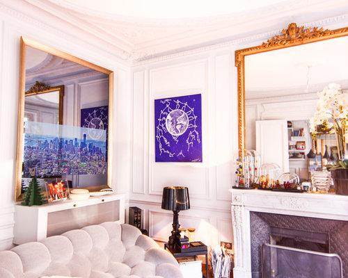 Miroir tv appartement haussmannien paris xvi for Miroir sejour