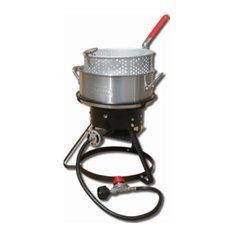 "King Kooker 1217 Cooker Package 12"" With 10 Qt. Aluminum Fry Pan/Basket"