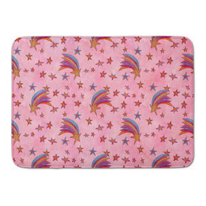 Butterfly On Pink Machine Washable Memory Foam Mat