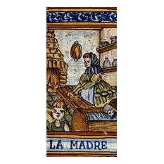 Italian Ceramic Tile, Mother, Madre
