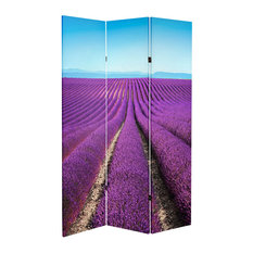 6' Tall Double Sided Lavender Fields Canvas Room Divider