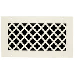 "Steel Crest - Steel Crest Basic Series Tuscan White Wall/Ceiling Return Air Grille, 10""x4"" - Add a bit of style to your hole by purchasing one of these decorative tuscan style return air grilles manufactured by Steel Crest. They use an 18 gauge steel with a white powder coat finish, which is less likely to scratch than painted finishes. You can install onto your wall or ceiling using the matching screws included. These grilles recess into the hole opening in your wall or ceiling approximately 3/4 inch. Made in the United States."